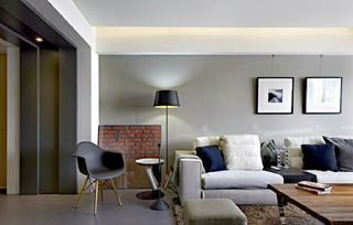 70平北欧风格装修沙发背景墙图片