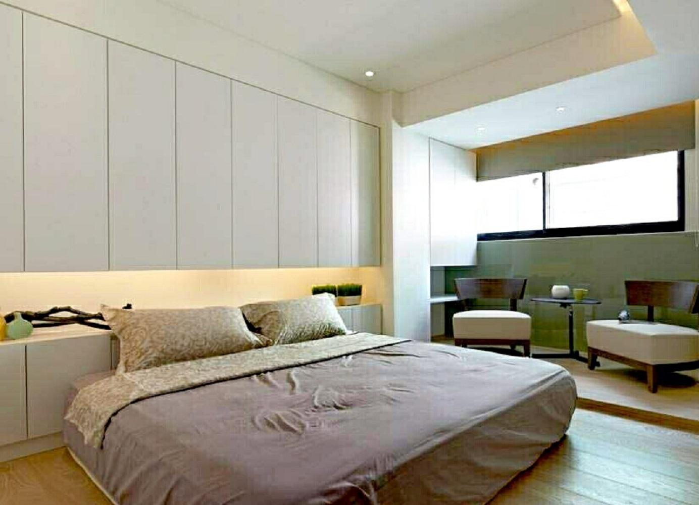 70平北欧风格装修卧室效果图