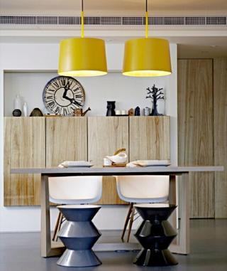 70平北欧风格装修餐厅吊灯图片