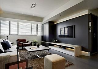 70平北欧风格装修电视背景墙图片