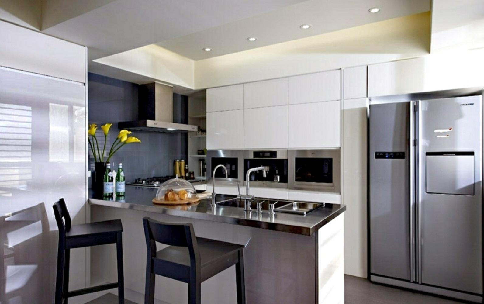 70平北欧风格装修厨房设计图
