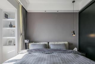 复式简约风格装修床头墙图片