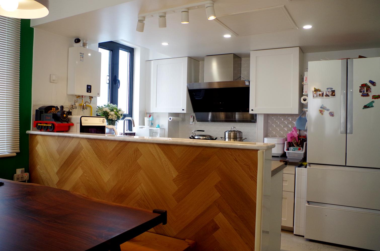 80平二居室装修吧台图片