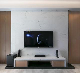 复式简约风格装修电视背景墙图片