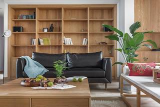 150平新中式空间书柜设计
