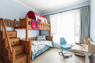 150平新中式空间儿童房效果图