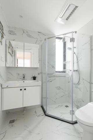 85㎡北欧风之家卫生间装潢图