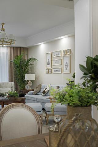 三居室美式风格装修绿植图片