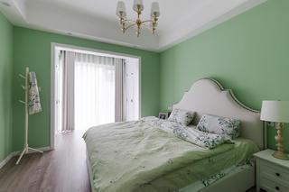 三居室美式风格装修卧室效果图