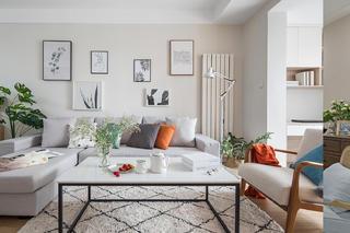 二居室北欧风格家沙发背景墙图片
