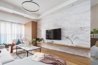 二居室北欧风格电视背景墙图片