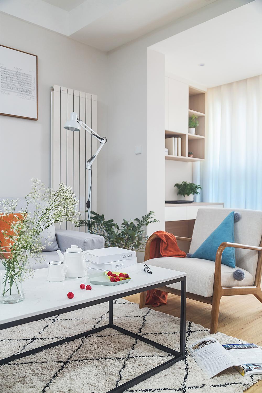 二居室北欧风格家客厅一角装饰