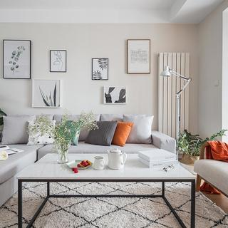 二居室北欧风格装修效果图 清爽洁净