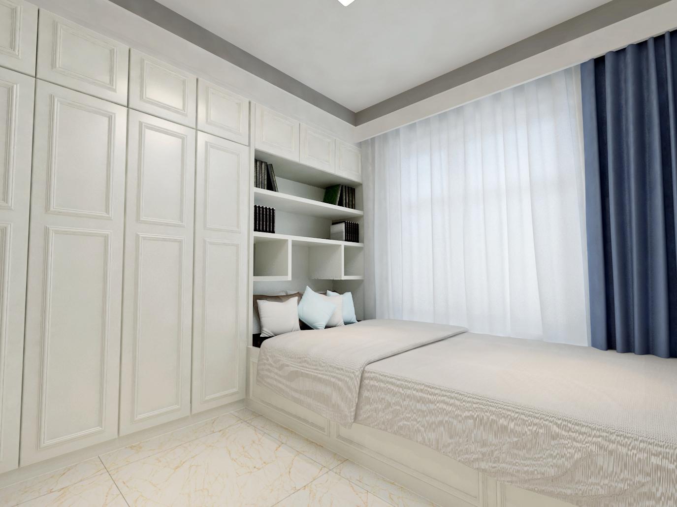 120㎡简约风之家卧室设计图