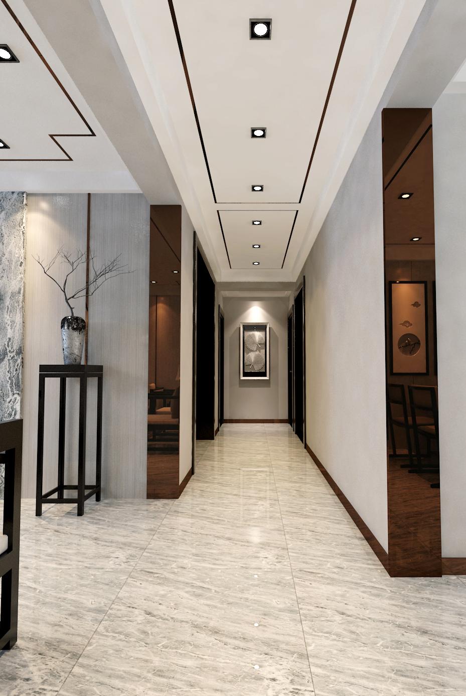 现代中式装修玄关设计