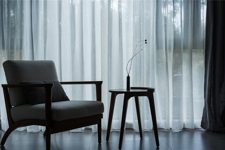 三居室日式风格家窗帘图片