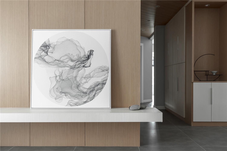 三居室日式风格家客厅家装饰画