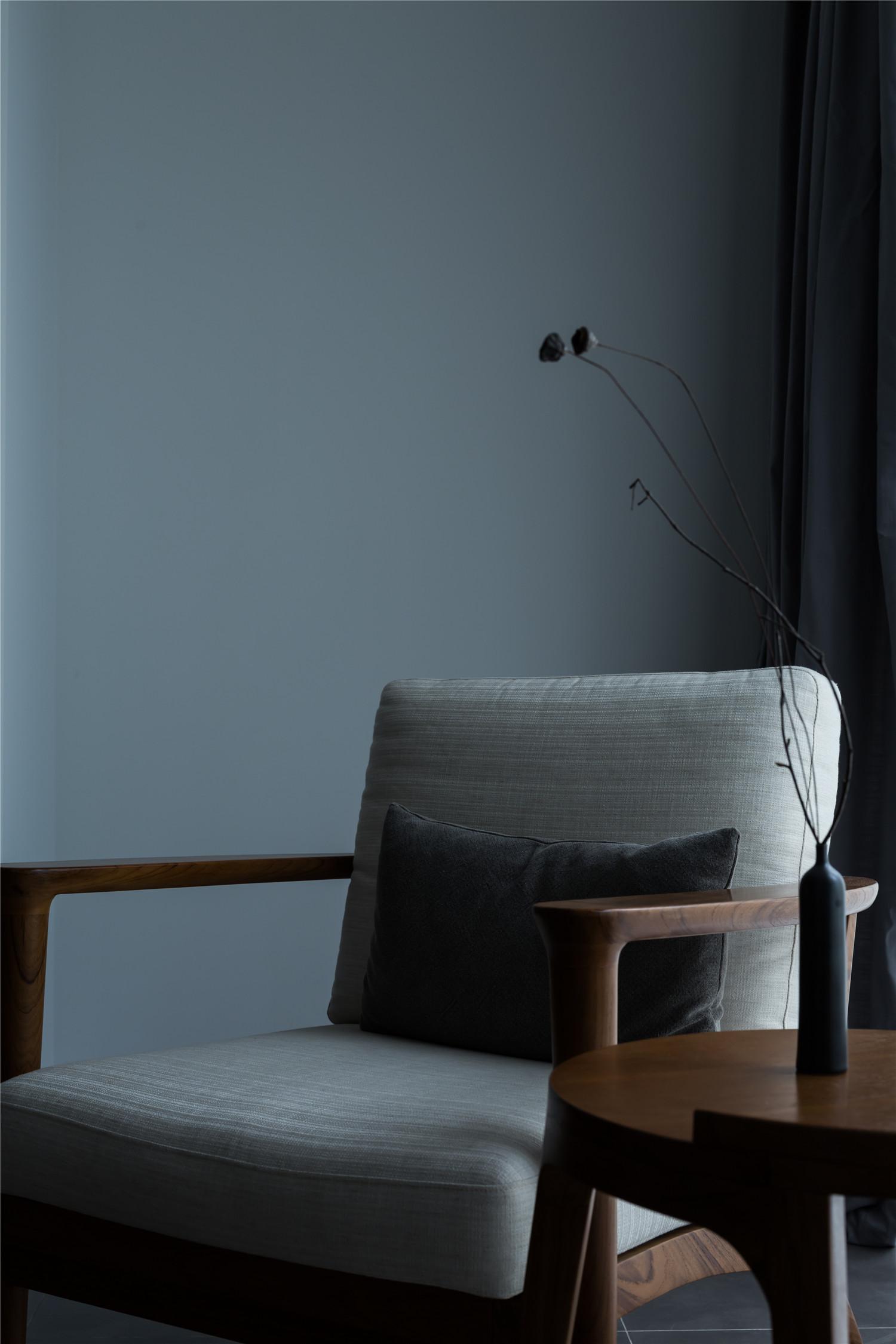 三居室日式风格家客厅边几沙发图片