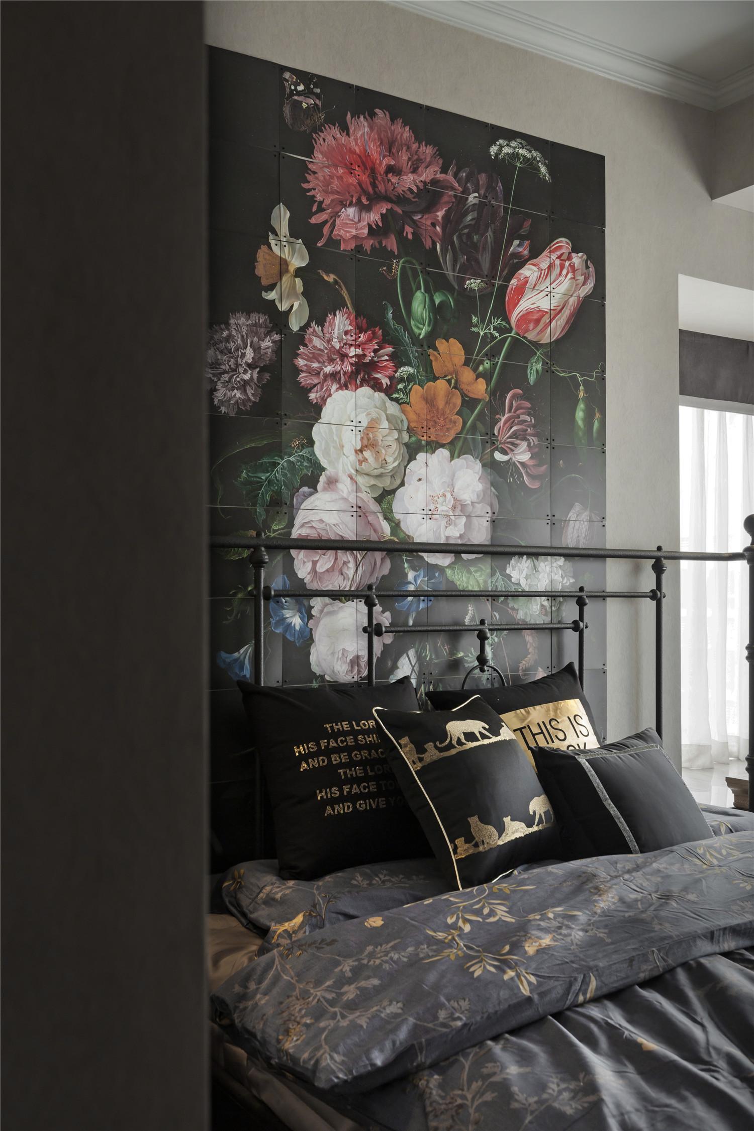 90平简欧风格设计墙面装饰画