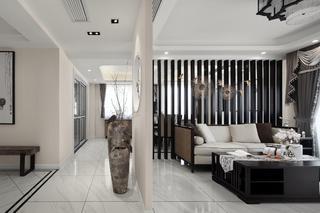 大户型新中式设计客厅隔断