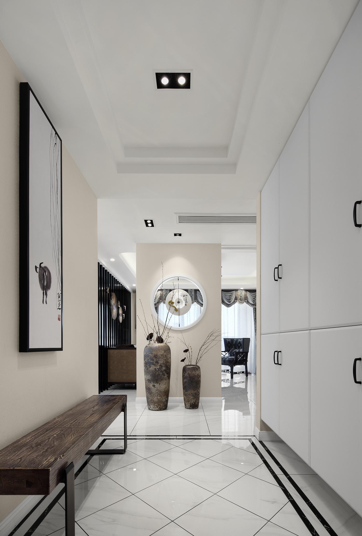 大户型新中式设计门厅效果图