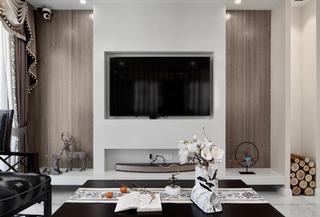 大户型新中式设计电视背景墙