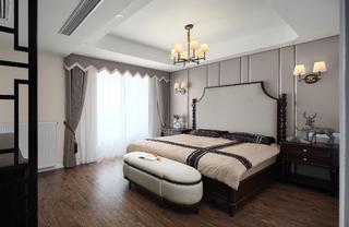 大户型新中式设计卧室效果图