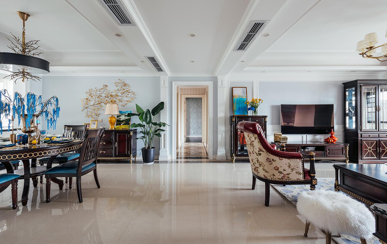 四居室美式之家客厅过道