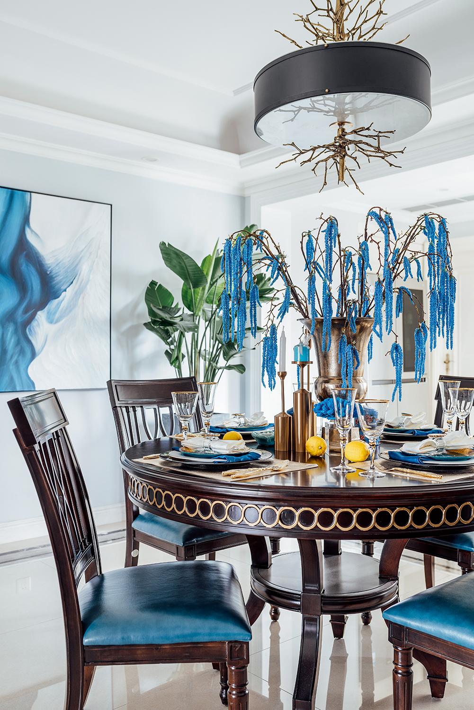 四居室美式之家餐桌图片