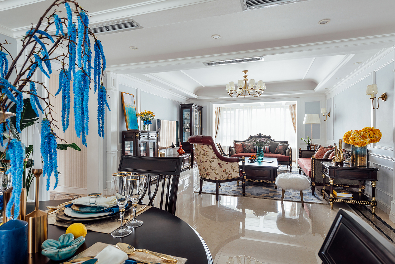 四居室美式之家客厅效果图