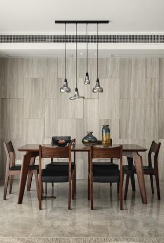 三居室简约风格家餐桌图片