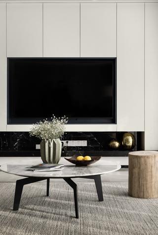 三居室简约风格家电视柜图片