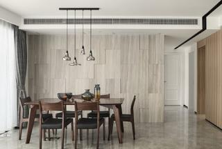 三居室简约风格家餐厅布置图