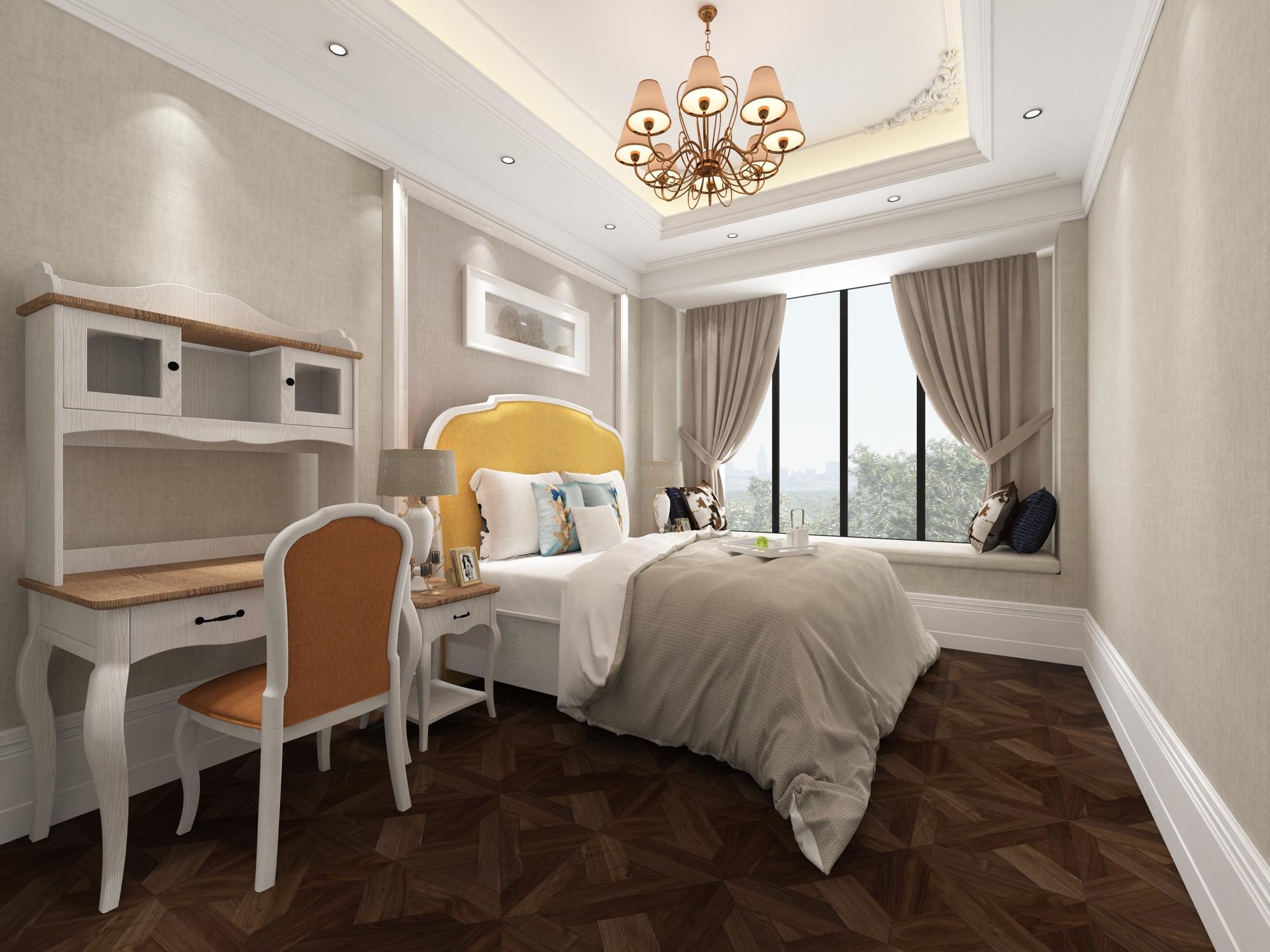 四居室美式装修主卧效果图