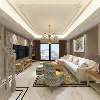 四居室美式装修 优雅清新