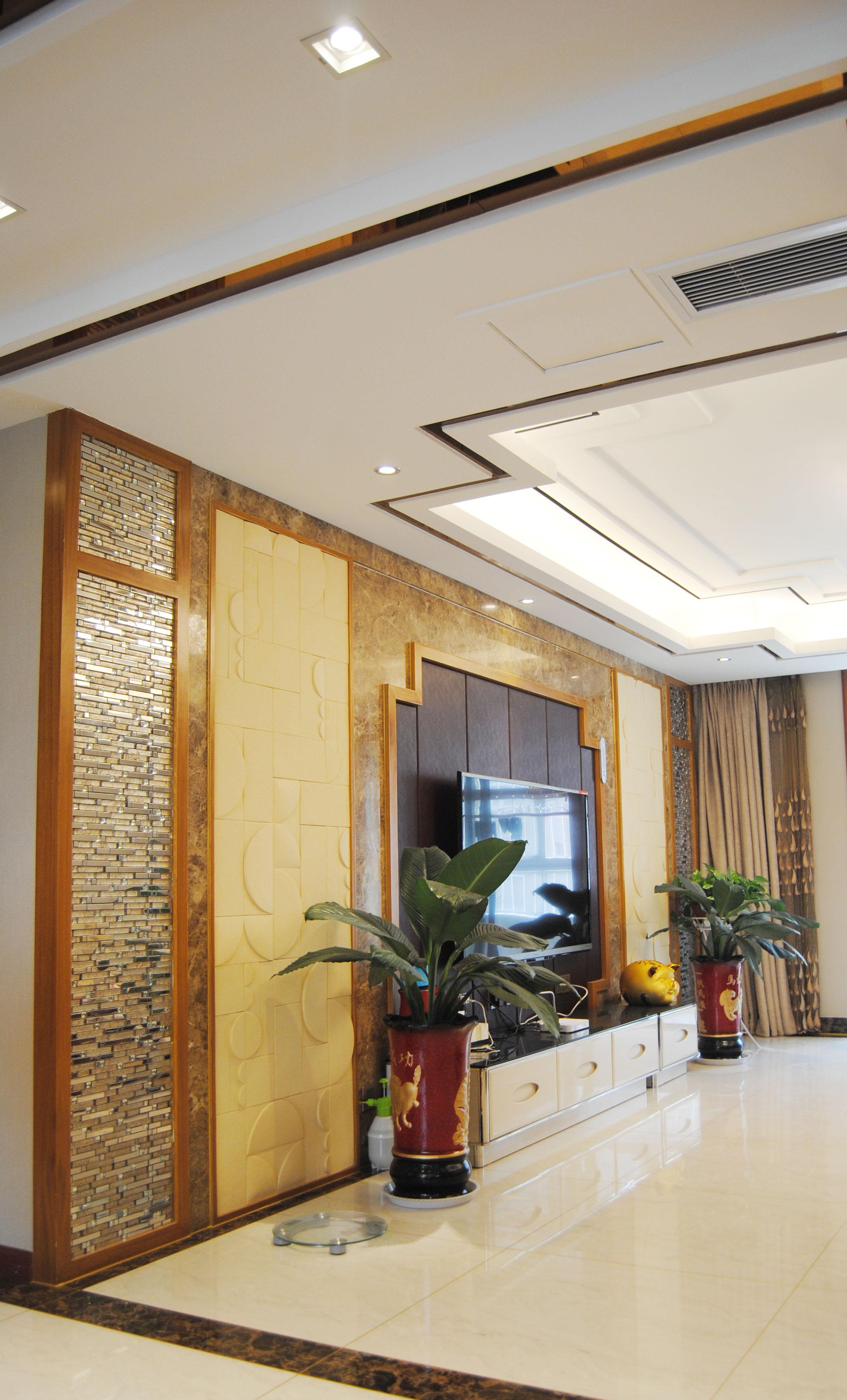 135㎡中式装修电视背景墙