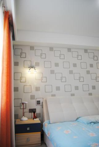 135㎡中式装修床头壁纸设计