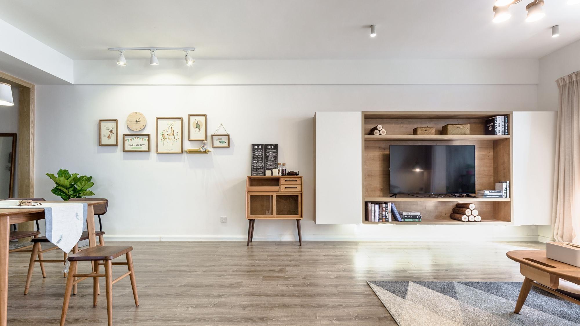 三居室日式风格设计电视柜图片