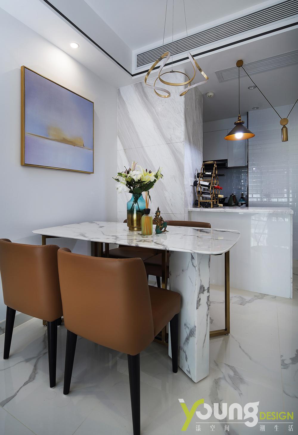 89㎡现代简约风装修餐厅厨房欣赏