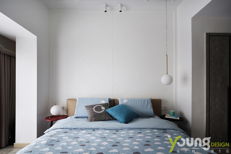 89㎡现代简约风装修卧室背景墙
