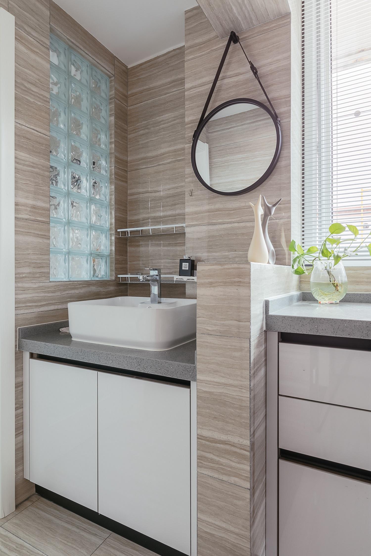 50平小户型设计洗手台图片