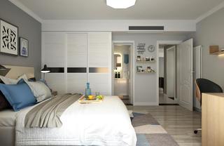 三居室北欧风格家衣柜图片