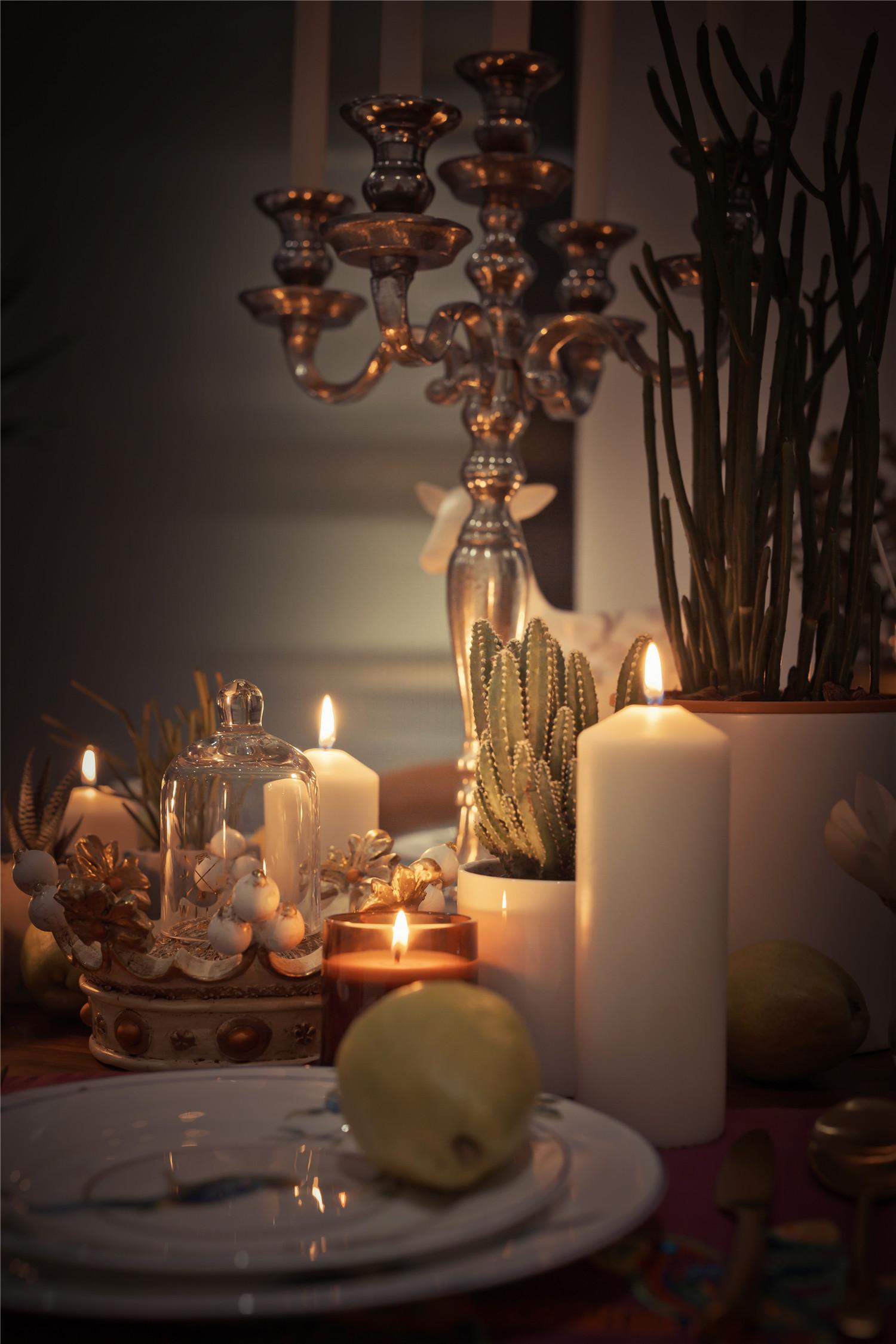 180平混搭风格设计餐桌装饰
