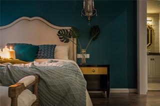 180平混搭风格设计卧室背景墙