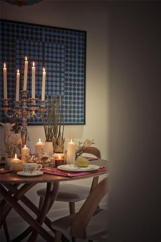 180平混搭风格设计蜡烛图片