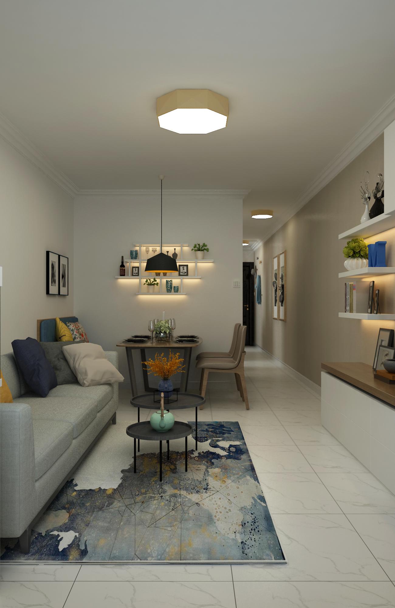 二居室现代北欧家沙发图片