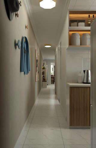 二居室现代北欧家走廊