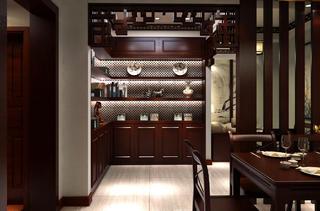 二居室中式風格裝修餐邊柜圖片