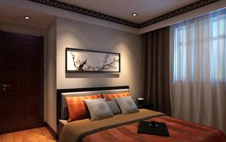 二居室中式风格装修卧室效果图