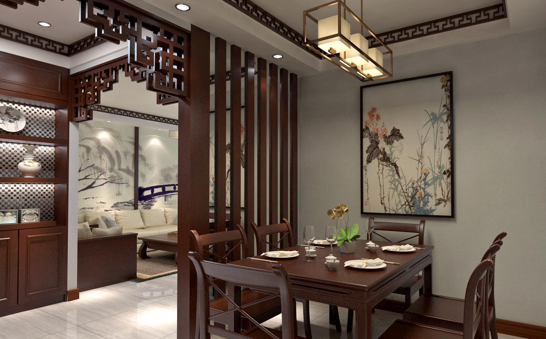 二居室中式风格装修餐厅隔断